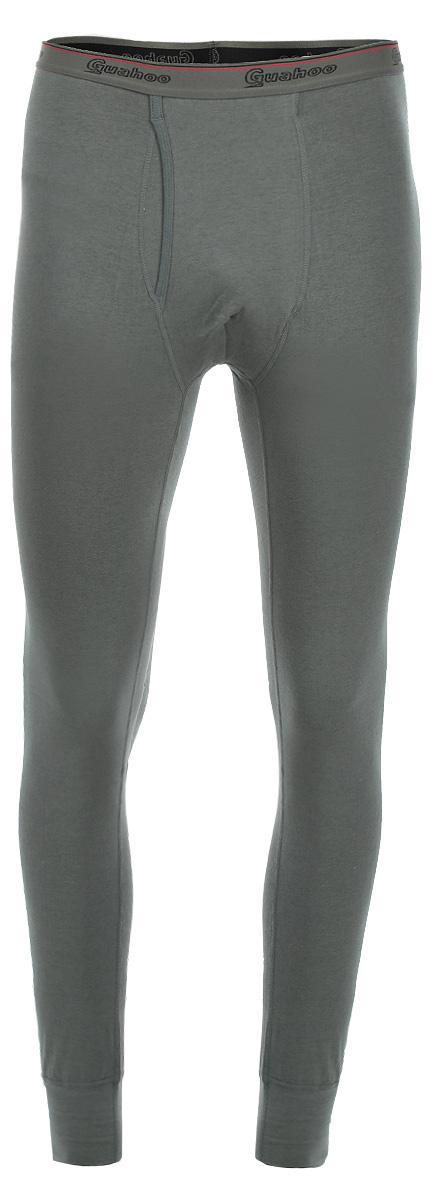 Термобелье кальсоны мужские Guahoo Everyday Light, цвет: темно-оливковый. 21-0470 PF. Размер S (44) стоимость