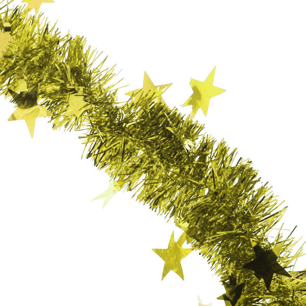 Мишура новогодняя Sima-land, цвет: золотистый, диаметр 5 см, длина 200 см. 702609702609_золотистыйМишура новогодняя Sima-land, выполненная из фольги, поможет вам украсить свой дом к предстоящим праздникам. Мишура армирована, то есть имеет проволоку внутри и способна сохранять приданную ей форму.Новогодняя елка с таким украшением станет еще наряднее. Новогодней мишурой можно украсить все, что угодно - елку, квартиру, дачу, офис - как внутри, так и снаружи. Можно сложить новогодние поздравления, буквы и цифры, мишурой можно украсить и дополнить гирлянды, можно выделить дверные колонны, оплести дверные проемы. Коллекция декоративных украшений из серии Зимнее волшебство принесет в ваш дом ни с чем несравнимое ощущение праздника! Создайте в своем доме атмосферу тепла, веселья и радости, украшая его всей семьей.