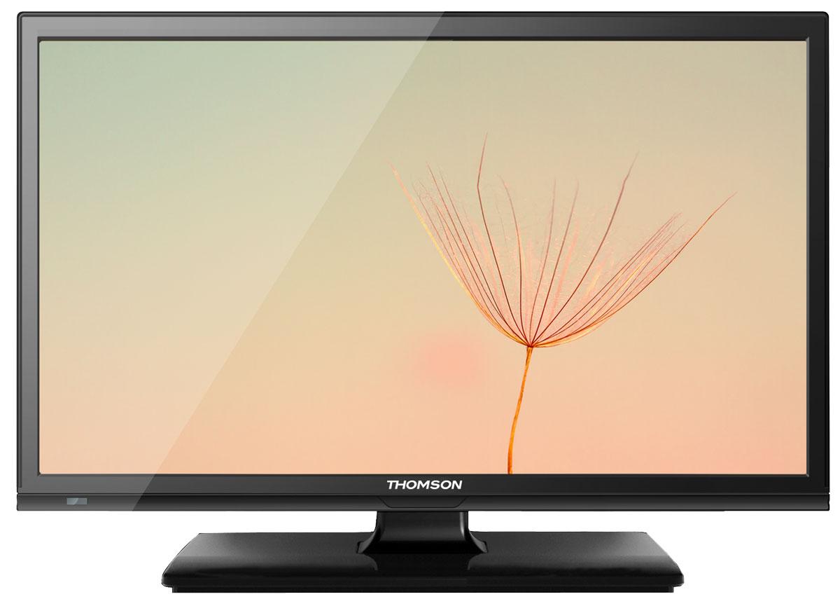Thomson T19E14DH-01B телевизорT19E14DH-01BТелевизор Thomson T19E14DH-01B с насыщенной цветопередачей изображения на экране с разрешением HD и широкими углами обзора. Встроенный цифровой тюнер телевизора имеет электронный модуль со слотом CI+, который позволяет просматривать кодированные телевизионные сигналы.Источником сигнала для качественной реалистичной картинки служат не только цифровые эфирные и кабельные каналы, но и любые записи с внешних носителей, благодаря универсальному встроенному USB медиаплееру. Рабочее напряжение: 110-240 В.