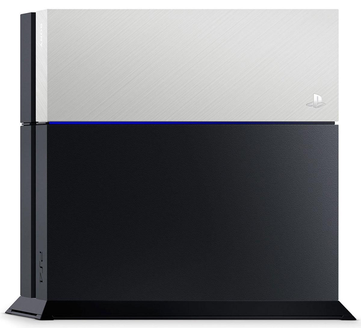 Дополнительная крышка для жесткого диска PS4 (серебряная) игровая консоль sony playstation 4 slim с 1 тб памяти игрой fifa 18 и 14 дневной подпиской playstation plus cuh 2108b черный