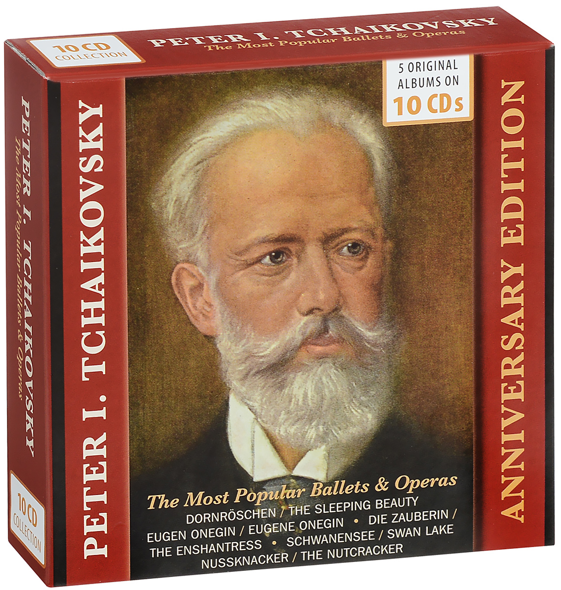 Peter I. Tchaikovsky. The Most Popular Ballets & Operas (10 CD) new chinese women flats shoes vintage boho cotton linen canvas floral embroidered cloth shoes woman soft woven round toe ballets