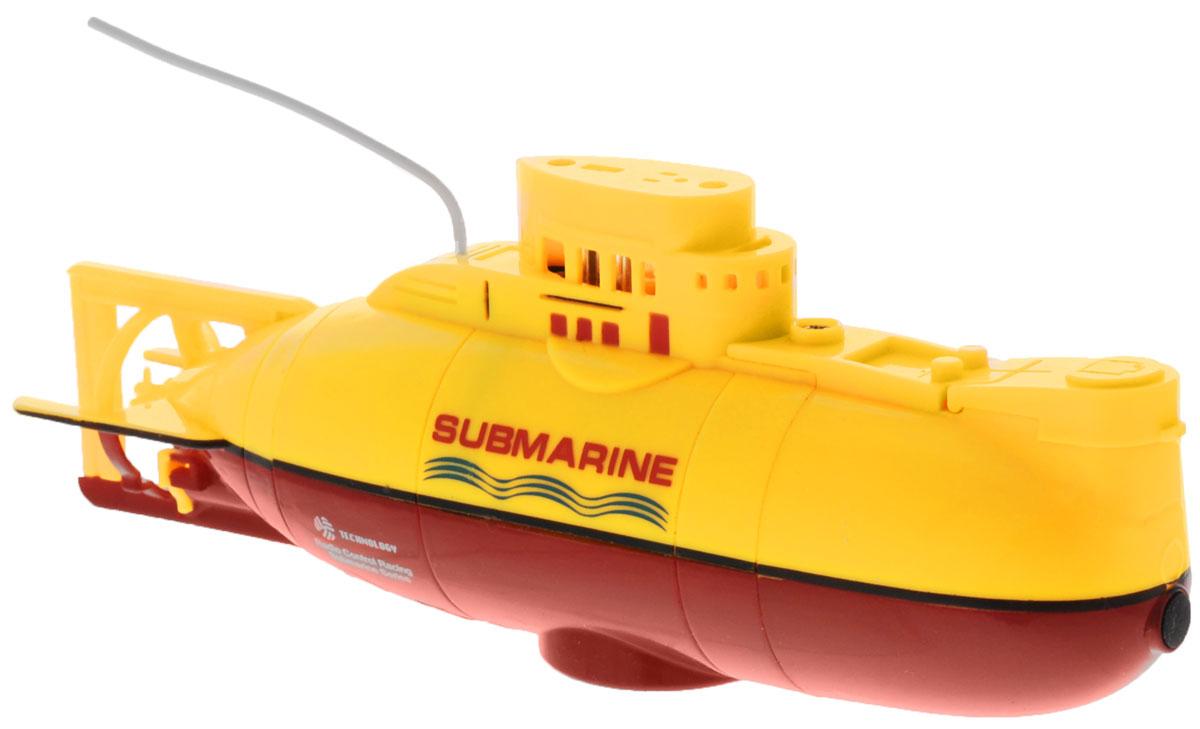 Bluesea Подводная лодка на радиоуправлении цвет желтый игрушка водная душ подводная лодка и кит yookidoo