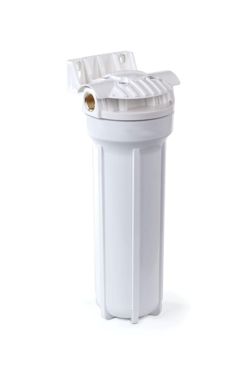 Корпус фильтра Гейзер 1П 3/4 предназначен для картриджей типа 10 Slim Line тонкой механической (0,5-100 мкм) и химической очистки воды. Корпус рассчитан на работу под давлением и установки на входе в систему холодного водоснабжения. Изготовлен из прочного белого полипропилена с металлическими ниппелями. В производстве корпусов используются материалы пищевого класса.