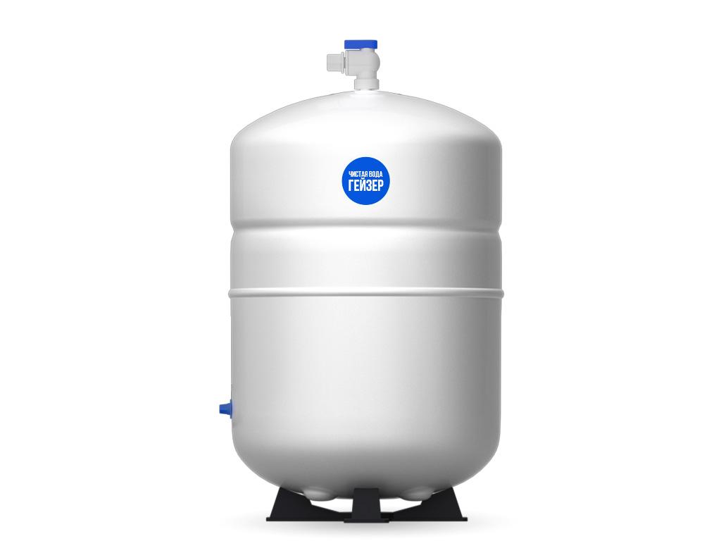 Накопительный бак для фильтра Гейзер Престиж, 12 л25380Накопительный бак используется в фильтрах обратного осмоса для создания резерва отфильтрованной чистой воды. Это необходимо, так как производительности системы в моменты пикового потребления может не хватать. Гидроаккумулятор из высококачественного металла для обратноосматических систем Гейзер Престиж и фильтра Гейзер Нанотек.Общий объем 12 литров.Полезный объем 7 литров.