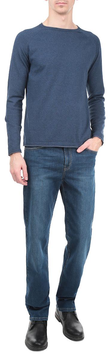 Джинсы мужские F5, цвет: синий. 0965/51543_w.medium. Размер 36-34 (50/52-34)0965/51543_w.mediumСтильные мужские джинсы F5 - джинсы высочайшего качества на каждый день, которые прекрасно сидят. Джинсы не сковывают движения и дарят комфорт. Модель прямого кроя и средней посадки изготовлена из высококачественного эластичного хлопка. Застегиваются джинсы на пуговицу в поясе и ширинку на молнии, также имеются шлевки для ремня. Спереди модель дополнена двумя втачными карманами и одним небольшим секретным кармашком, а сзади - двумя накладными карманами. Изделие оформлено эффектом потертости и перманентными складками. Эти модные и в тоже время комфортные джинсы послужат отличным дополнением к вашему гардеробу. В них вы всегда будете чувствовать себя уютно и комфортно.