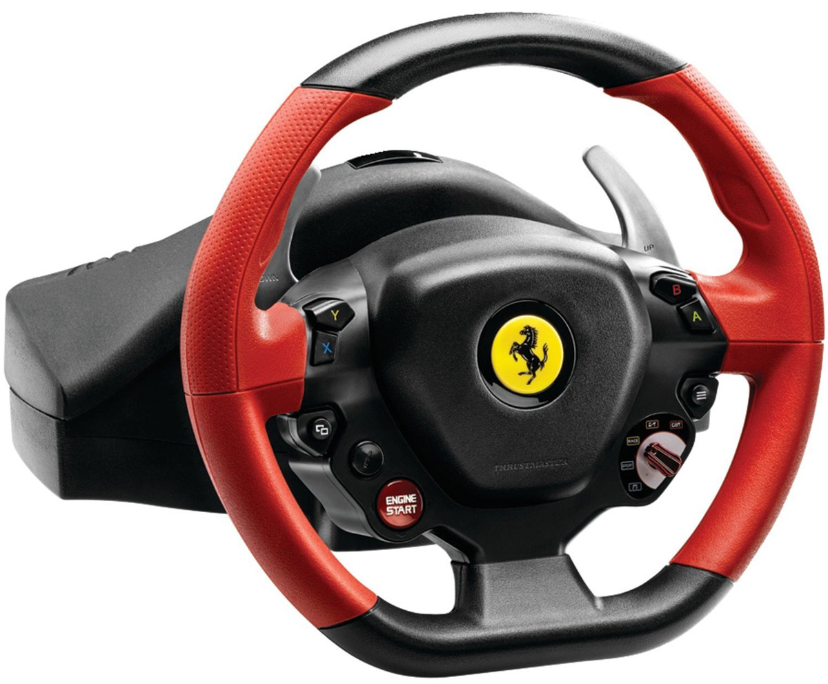 все цены на Thrustmaster Ferrari 458 Spider Racing Wheel, Black Red руль онлайн