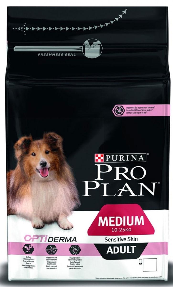 Корм сухой Pro Plan Optiderma Medium для взрослых собак средних пород с чувствительной кожей, с лососем и рисом, 3 кг12272211Корм сухой Pro Plan Optiderma Medium - полнорационный корм для взрослых собак средних пород (1-25 кг) с чувствительной кожей.Корм со специально разработанным комплексом Optiderma обеспечивает улучшенное питание, которое поддерживает чувствительную кожу щенков. Этот комплекс включает в себя специальную комбинацию питательных веществ, которые поддерживают здоровье кожи и красивую шерсть, а отобранные источники белка помогают сократить возможные кожные реакции, связанные с пищевой чувствительностью. Корм подходит для беременных и кормящих собак.Состав: лосось (14%), рис (14%), кукуруза, сухой белок лосося, кукурузный глютен, кукурузная мука, продукты переработки растительного сырья, животный жир, вкусоароматическая кормовая добавка, сухая мякоть свеклы, яичный порошок, минеральные вещества, рыбный жир, сушеный корень цикория, кукурузный крахмал, масло соевое, витамины, антиоксиданты. Добавленные вещества: МЕ/кг: витамин A: 32 000; витамин D3: 1040; витамин E: 550; мг/кг: витамин C: 140; железо: 90; йод: 2,3; медь: 14; марганец: 42; цинк: 160; селен: 0,14.Гарантируемые показатели: белок: 27,0%; жир: 15,0%; сырая зола: 7,5%;сырая клетчатка: 3,0%.Вес: 3 кг.Товар сертифицирован.