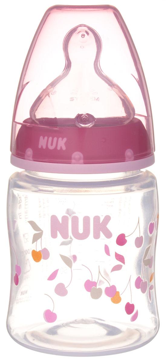 Бутылочка пластиковая NUK First Choice цвет розовый 150 мл от 0 до 6 месяцев