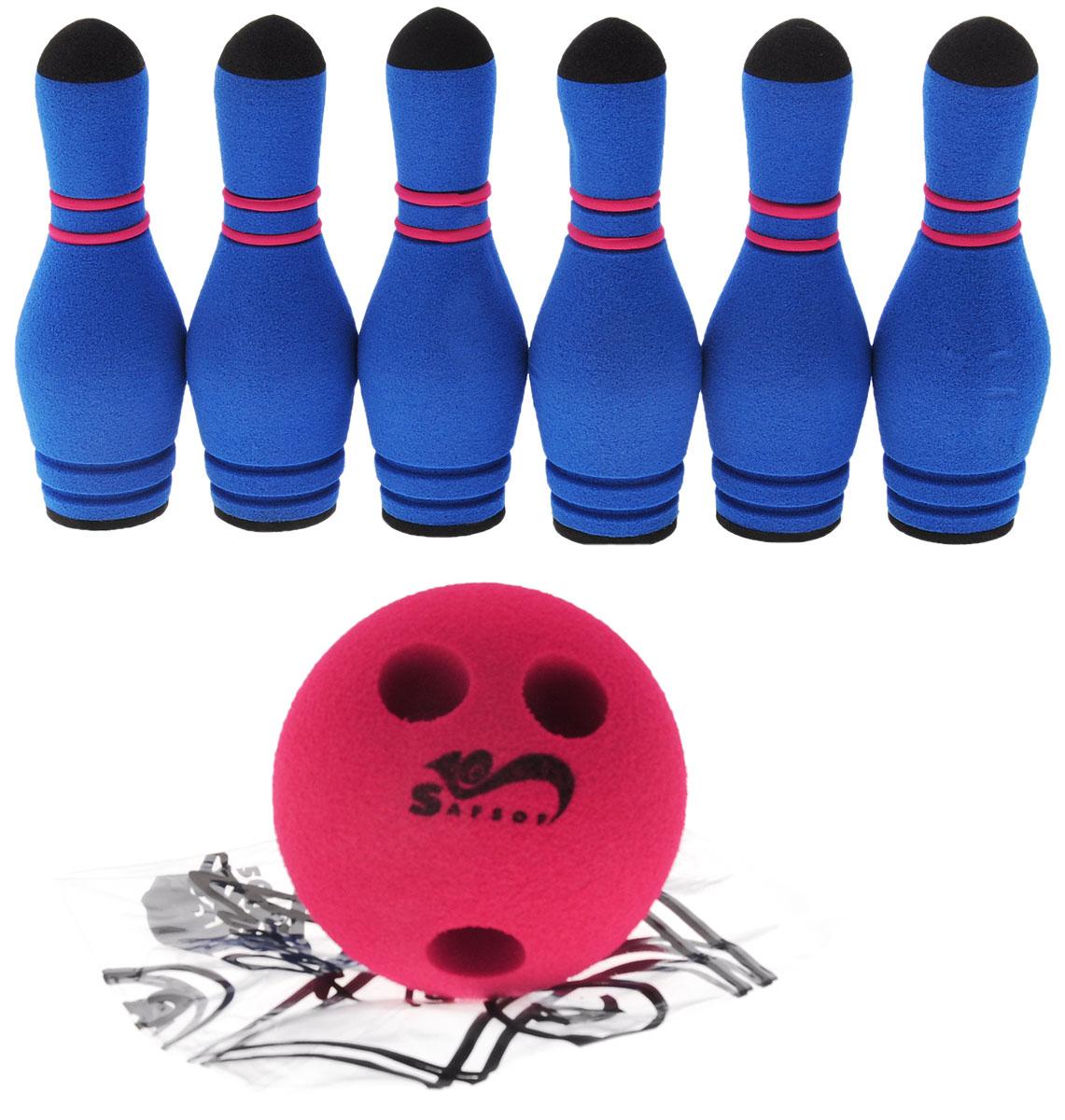 Safsof Игровой набор Мини-боулинг цвет синий красный