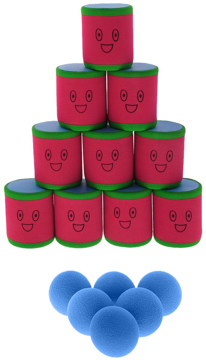 Safsof Игровой набор Городки цвет красный зеленый голубой magellan игровой набор городки люкс