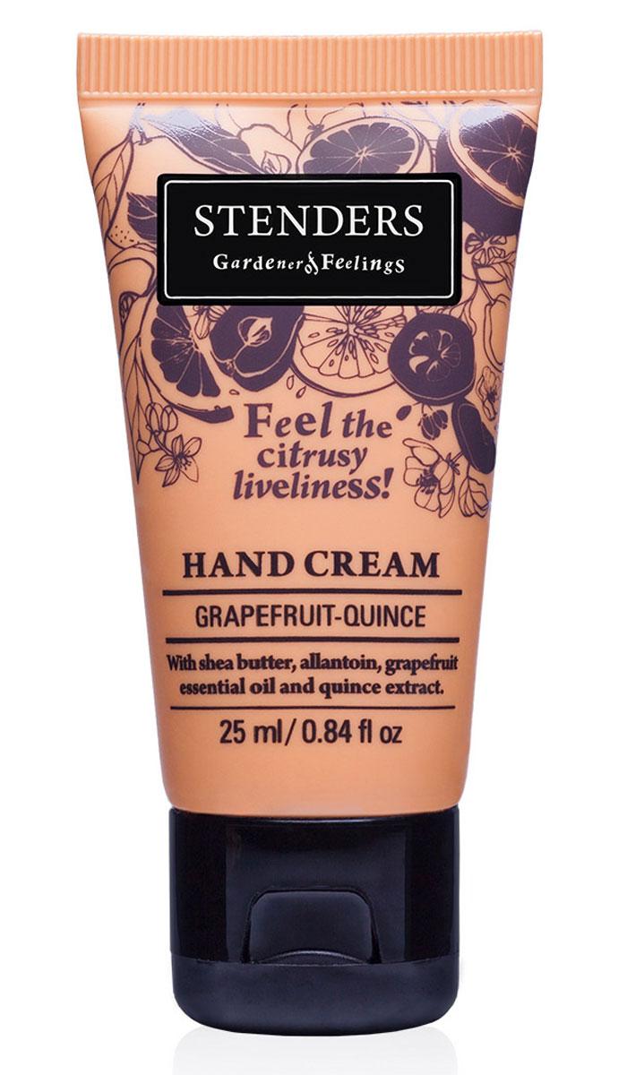 Stenders Крем для рук Грейпфрут-Цидония, 25 млCHGQЗащитный крем позаботится о коже ваших рук. Содержит натуральное твердое масло ши, которое обильно питает кожу, а аллантоин, цидониевый экстракт и грейпфрутовое эфирное масло делают руки бархатисто-нежными и гладкими. Крем быстро впитывается в кожу, придавая ей бодрящий цитрусовый аромат.Изо дня в день крем будет защищать ваши руки, делая кожу гладкой и бархатистой.Он сформирует защитный слой, удерживающий влагу, заботясь таким образом о красоте и эластичности кожи.В экстракте солнечной цидонии сокрыто множество минеральных веществ и витаминов, поэтому мы его добавляем и в свои продукты. Своим балансирующим эффектом он помогает жирной коже. Цидония взбодрит вас и улучшит настроение.Игристый, жизнерадостный грейпфрут служит великолепным источником эфирных масел. Грейпфрутовому эфирному маслу присуща солнечная и оживляющая сила, которая взбодрит как тело, так и дух. Кроме того, оно может помочь улучшить структуру вашей кожи.