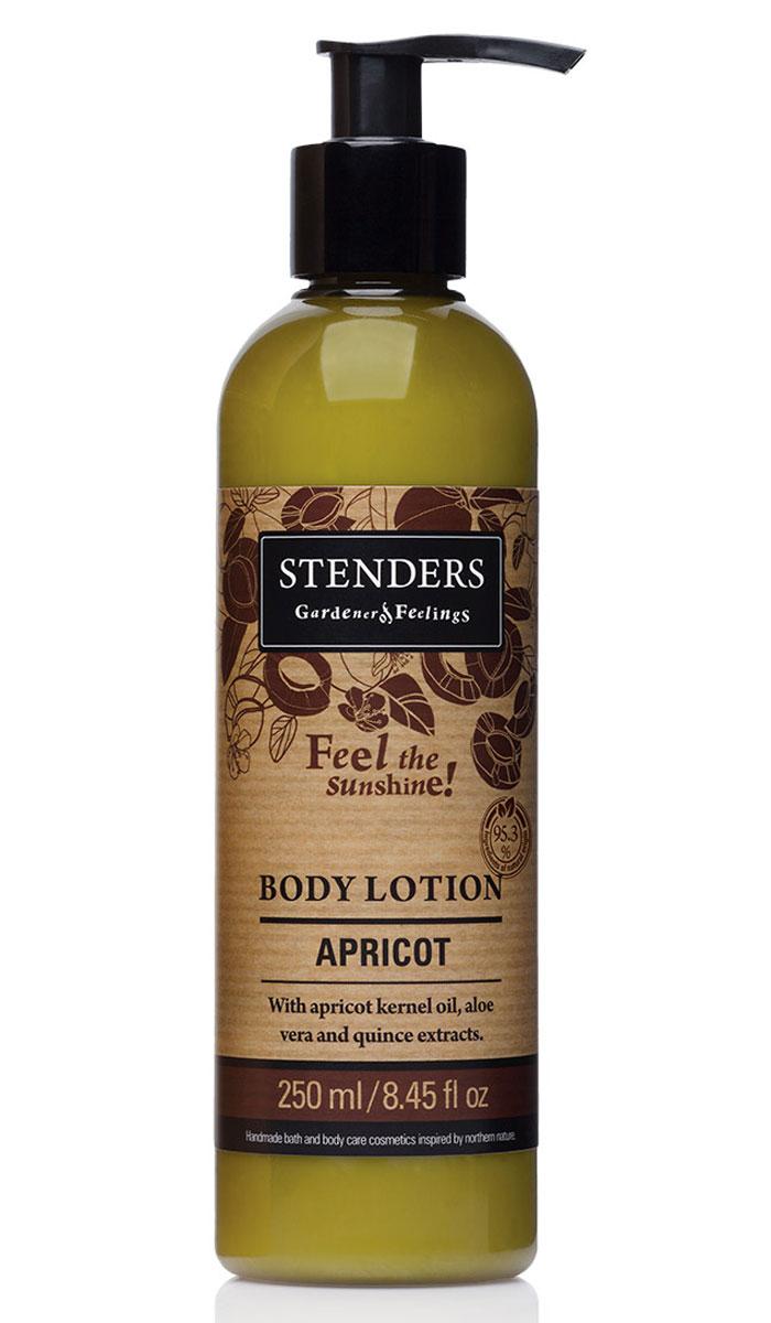 Stenders Лосьон для тела Абрикос, 250 млLBAЭтот легкий лосьон для тела мгновенно впитывается в кожу, способствуя сохранению необходимого уровня влажности вашей кожи в каждой клеточке. Ощутите, как масло абрикосовых косточек смягчает и разглаживает вашу кожу. Солнечный аромат абрикоса освежит вас, как дуновение легкого летнего ветерка. Сок алоэ является одним из самых сильных природных увлажнителей. Кроме того, он обладает выраженным противовоспалительным, противомикробным, ранозаживляющим и десенсибилизирующим действием (снимает аллергические реакции). Повышает резистентность кожи к воздействию УФ-излучения.Масло абрикосовых косточек придаст коже здоровый и сияющий внешний вид. Ши масло тщательно питает, увлажняет, смягчает кожу и задерживает ее старение. Этому маслу присуща способность глубоко впитываться в кожу, длительно питая и защищая ее. В экстракте солнечной цидонии (айвы) сокрыто множество минеральных веществ и витаминов, поэтому мы его добавляем и в свои продукты. Своим балансирующим эффектом он помогает жирной коже. Цидония (айва) взбодрит вас и улучшит настроение.