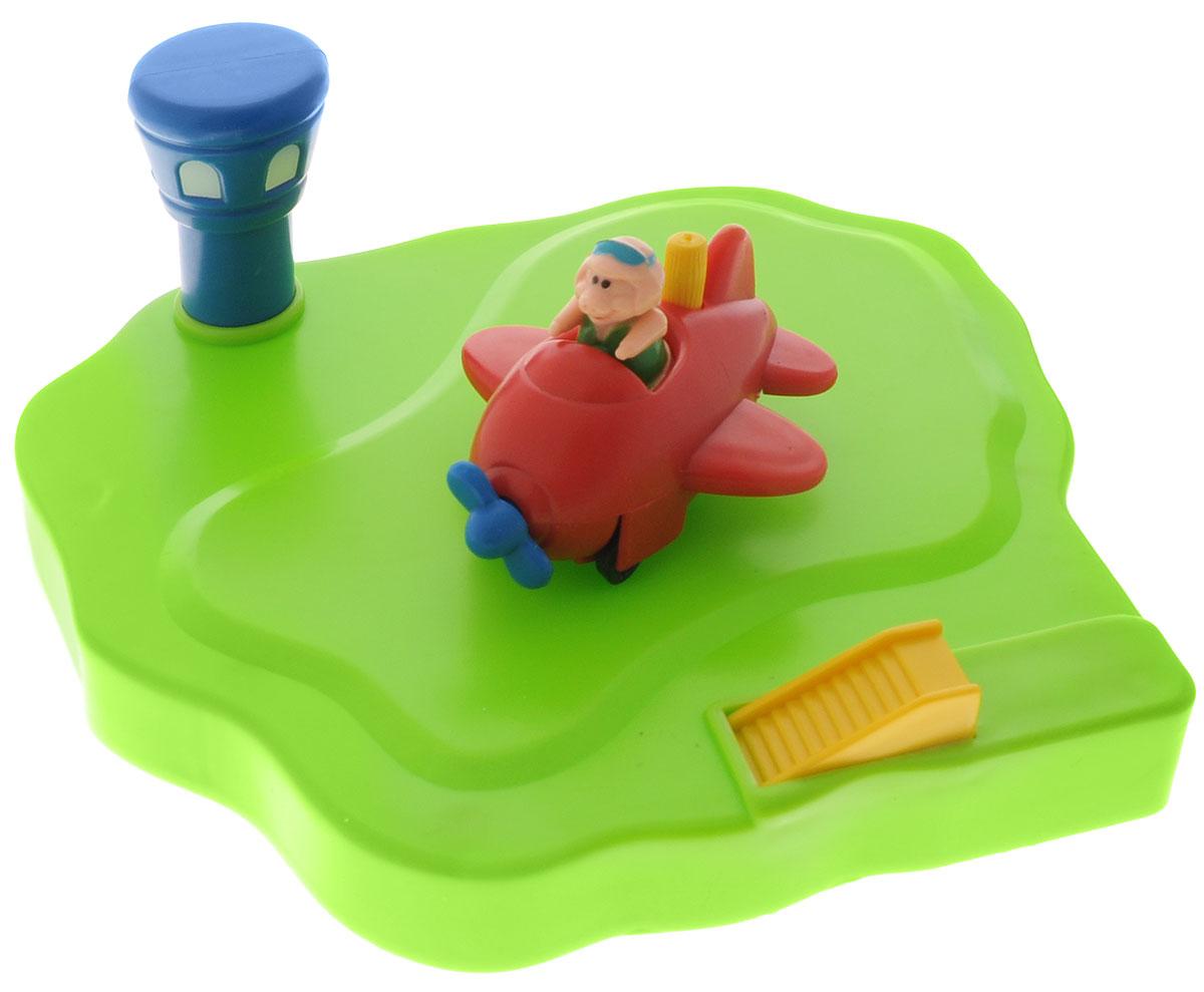 Жирафики Игрушка для ванной Аэродром цвет самолета красный игрушка жирафики аэродром 681123
