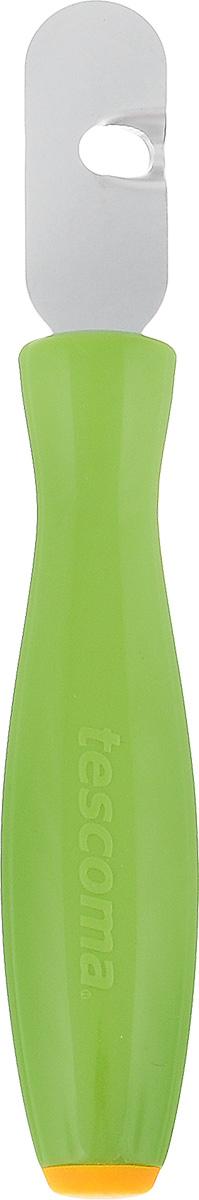 Приспособление для вырезания декоративных дорожек Tescoma Presto Carving422034Приспособление Tescoma Presto Carving предназначено для вырезания спиралей и украшения цедры лимонов, лаймов, апельсинов, грейпфрутов, огурцов, кабачков и других овощей и фруктов. Рабочая часть изделия выполнена из нержавеющей стали, ручка из прочного пластика.Длина приспособления: 15 см.