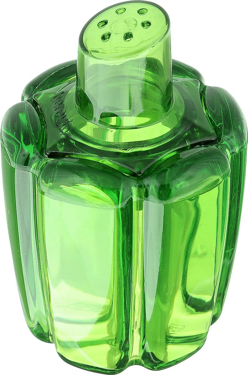 Банка для специй Herevin, цвет: зеленый, 80 мл161095-000_зеленыйБанка для специй Herevin выполнена из прозрачного стекла в виде болгарского перца и оснащена пластиковой цветной крышкой с отверстиями, благодаря которым, вы сможете приправить блюда, просто перевернув банку. Крышка легко откручивается, благодаря чему засыпать приправу внутрь очень просто. Такая баночка станет достойным дополнением к вашему кухонному инвентарю. Можно мыть в посудомоечной машине.Объем: 80 мл.Диаметр (по верхнему краю): 4 см.Высота банки (без учета крышки): 6,5 см.