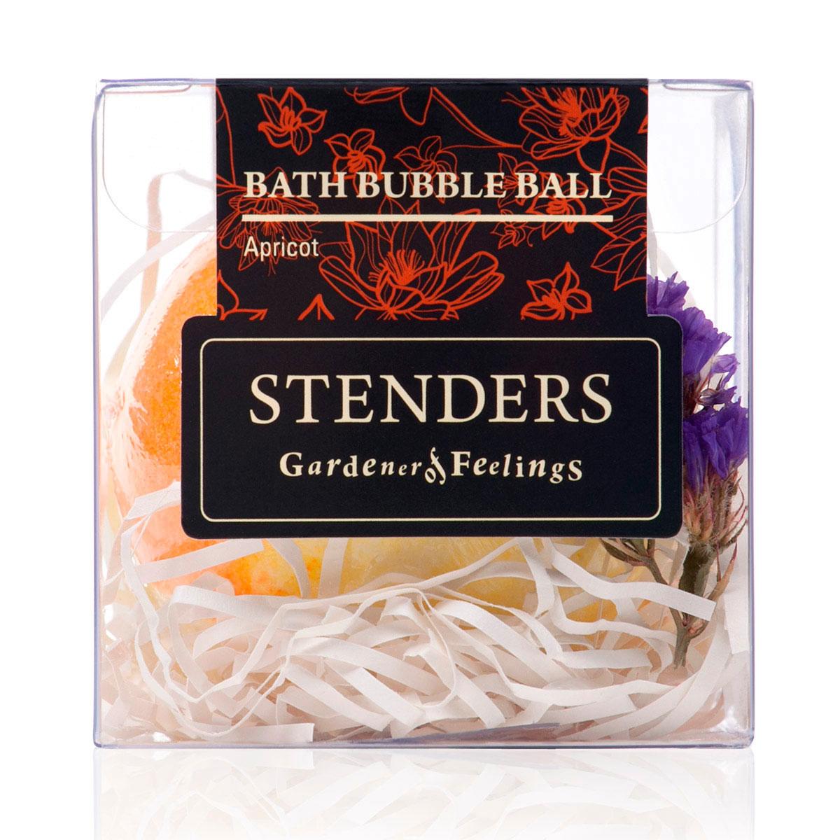 Stenders Бурлящий шар Абрикосовый, 125 гSISBB01Ваши любимые бурлящие шары, упакованные в красивую коробку - готовы удивлять и радовать. Этот изготовленный умелыми руками бурлящий шар для ванны наполнит помещение запахом сладкого абрикоса и ощущением солнечного лета. Для того чтобы позаботиться о вашей коже во время купания, мы добавили в этот шар натуральные кристаллы морской соли. После купания ощутите, какой нежной и гладкой сделало вашу кожу масло виноградных косточек.Масло виноградных косточек особенно хорошо тем, что содержит ненасыщенные жирные кислоты в большой концентрации. Оно придаст жизненную силу вашей коже, тщательно увлажняя и смягчая ее. Кристаллы соли моря богаты ионами кальция, калия и натрия. Эти вещества очистят вашу кожу и укрепят ногти. Релаксирующая ванна с солью помогает регулировать уровень влаги в клетках, устраняя припухлость и снимая усталость.