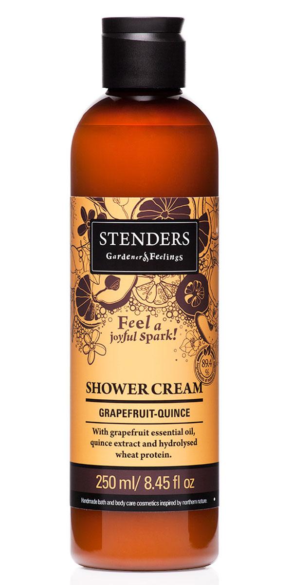 Stenders Крем для душа Грейпфруто-Цидониевый, 250 млSCGQНежный крем для душа, наполненный бодрящим ароматом, мягко очистит вашу кожу, даря ей гладкость и аромат. Для заботы о красоте кожи мы добавили в крем грейпфрутовое эфирное масло, экстракт цидонии и гидролизованный протеин пшеницы.Насладитесь мгновениями, наполненными энергией, когда вас окутает воздушная пена и сочный фруктовый аромат.Пшеница столетиями служила людям в качестве ценного полезного источника питания. Протеинам, входящим в ее состав, присущи свойства, которые позволяют использовать их для заботы о вашей красоте и хорошем самочувствии. Протеины пшеницы естественным образом смягчают вашу кожу и укрепляют волосы. Кроме того, они обеспечивают увлажнение и придают ощущение исключительной гладкости.