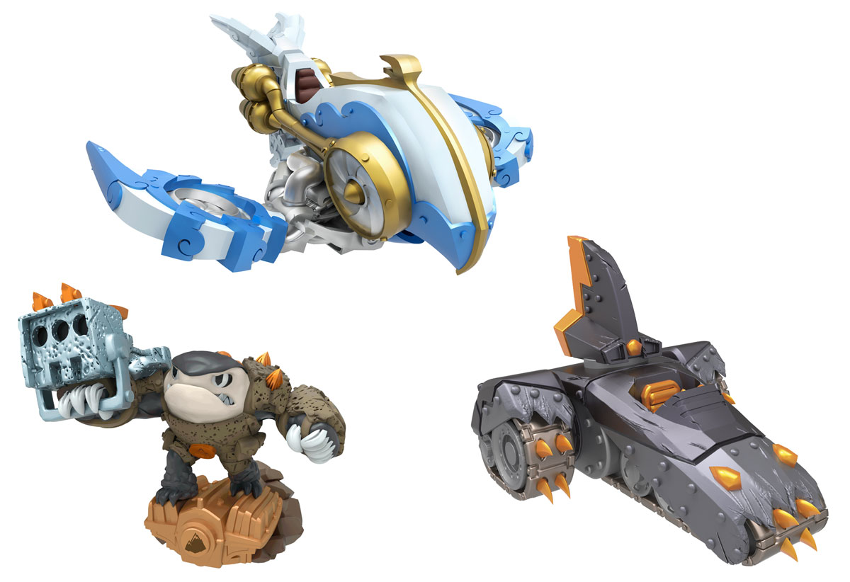 Skylanders SuperChargers. Набор из 3 фигурок (Стихия Earth+Earth+Air)