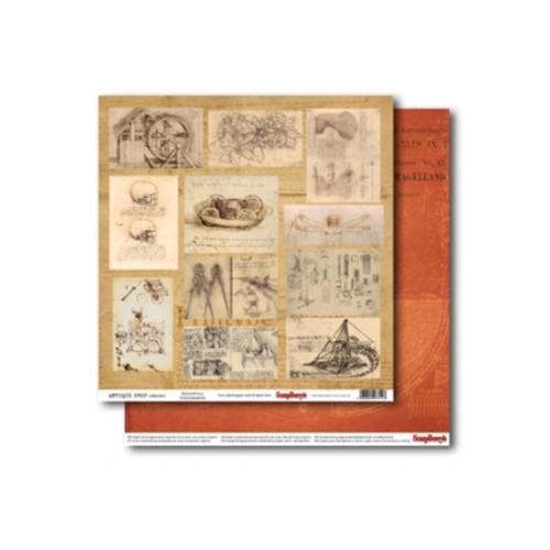 Бумага для скрапбукинга 30,5х30,5см 180 гр/м двустор Лавка Древностей Открытия SCB220606004488279