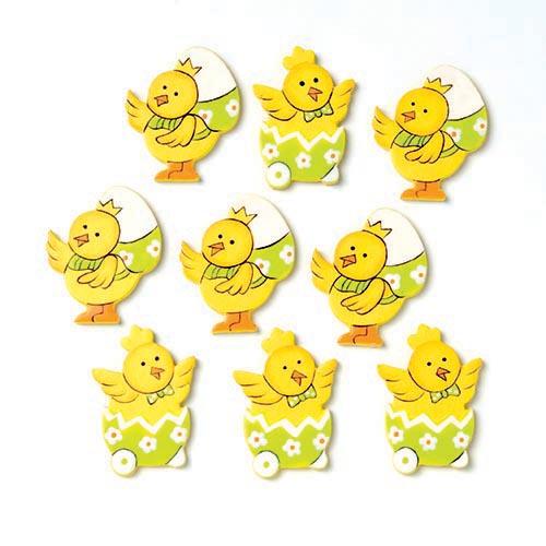 Набор декоративных элементов Hobby Time Утята с яйцом, 3,5 х 2,8 см, 9 шт набор декоративных элементов vintage line 6 шт 7707934