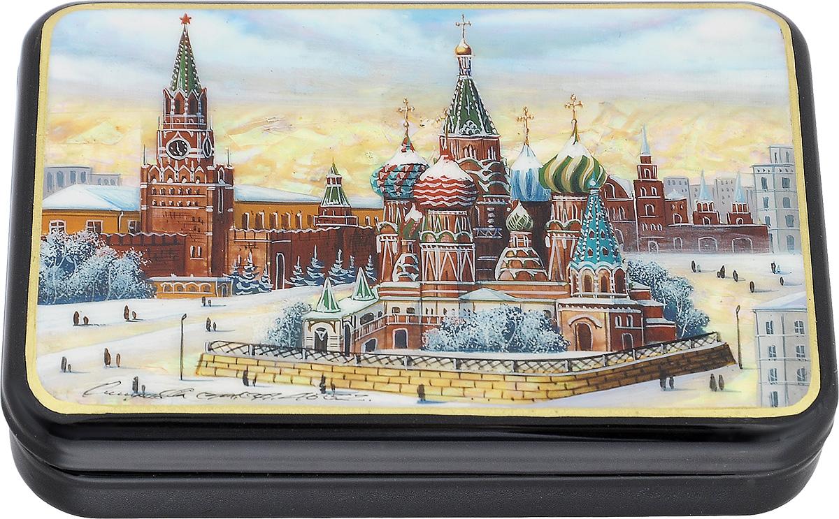 Шкатулка Москва, 13 см х 9 см. Ручная авторская работа шкатулка для украшений umbra trinity цвет белый 13 9 х 13 9 х 8 9 см