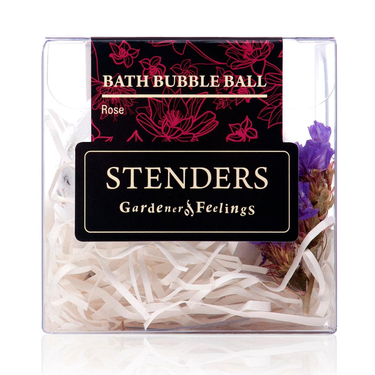 Stenders Бурлящий шар Розовый, 125 гSISBB06Ваши любимые бурлящие шары, упакованные в красивую коробку - готовы удивлять и радовать. Этот изготовленный умелыми руками бурлящий шар для ванны наполнит помещение волнующим сердце королевским ароматом роз. Пока вы будете наслаждаться расслабленным отдыхом, о вашей коже позаботятся содержащиеся в шарике кристаллы соли и масло виноградных косточек. А в ванне распустятся изысканные лепестки розы, вдохновляя вас на романтические мгновения для двоих.Масло виноградных косточек особенно хорошо тем, что содержит ненасыщенные жирные кислоты в большой концентрации. Оно придаст жизненную силу вашей коже, тщательно увлажняя и смягчая ее. Кристаллы соли моря богаты ионами кальция, калия и натрия. Эти вещества очистят вашу кожу и укрепят ногти. Релаксирующая ванна с солью помогает регулировать уровень влаги в клетках, устраняя припухлость и снимая усталость.