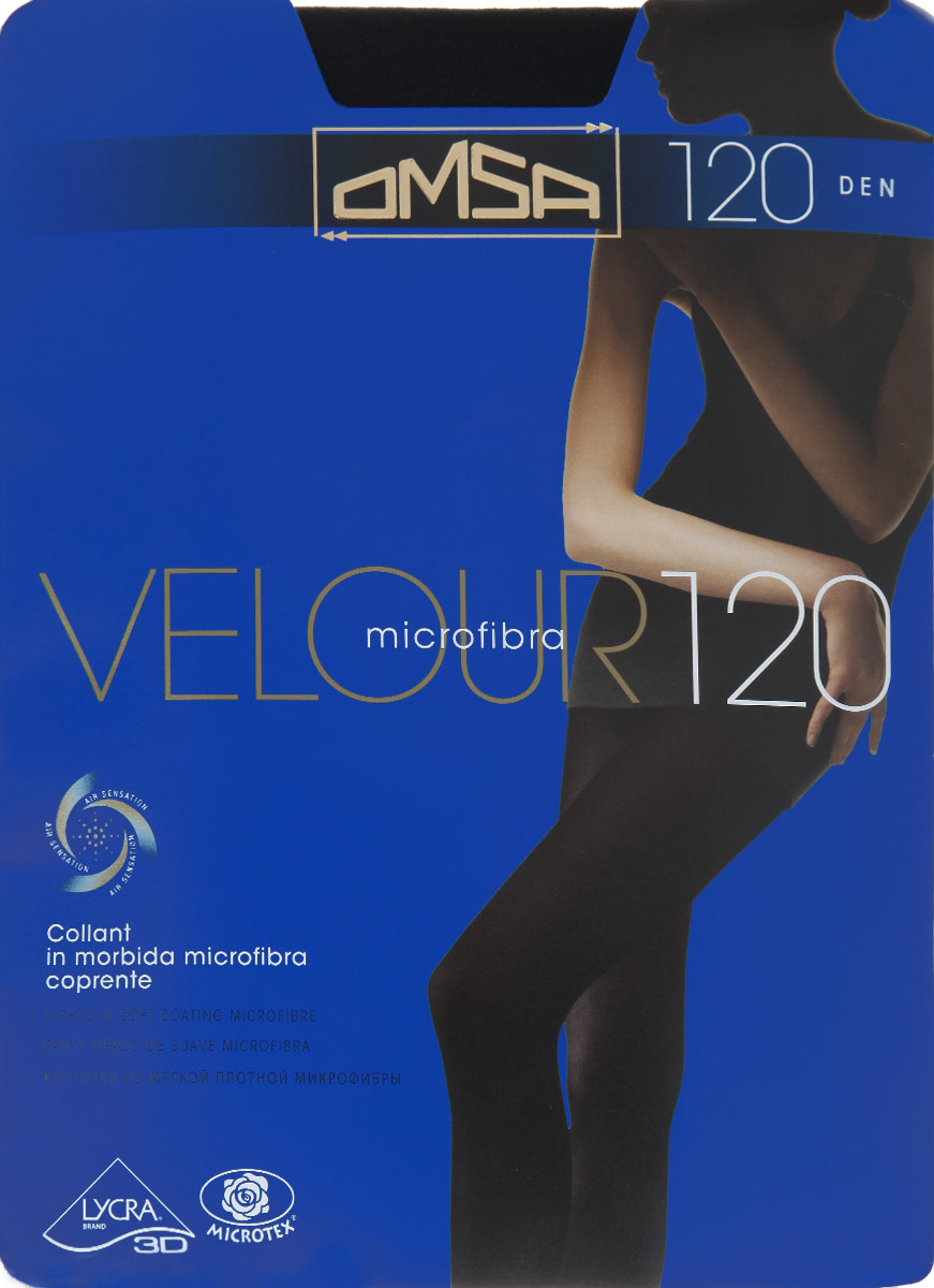 Колготки Omsa Velour 120, цвет: Nero (черный). 198OM. Размер 3 (42/44) costumenemutso платье costumenemutso w121104 fab136 nero 44 черный