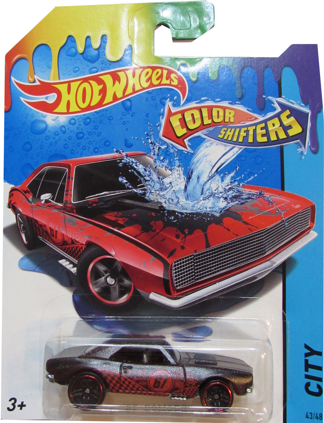Hot Wheels Машинка Color Shifters 67 Camaro hot wheels color shifters машинка dodge charger r t