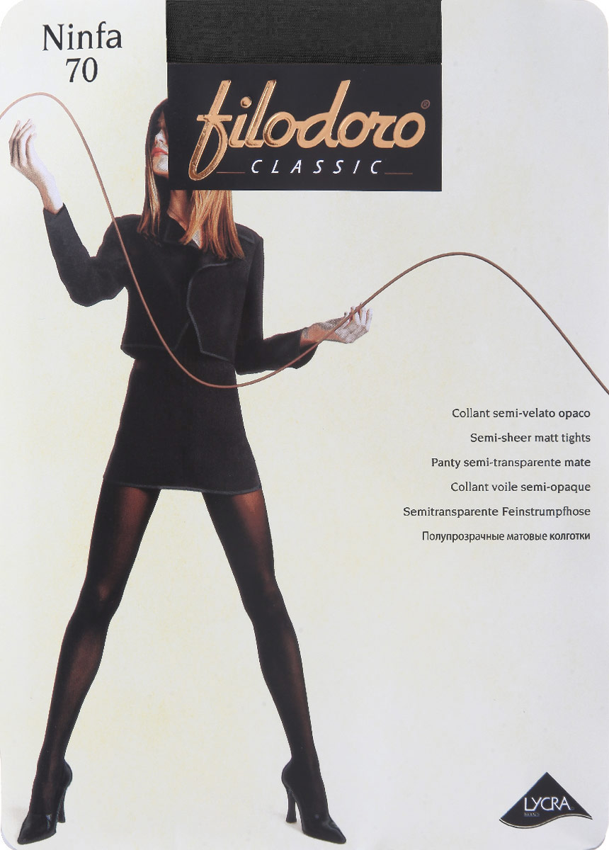 Колготки Filodoro Classic Ninfa 70, цвет: Nero (черный). C115063FC. Размер 3 (42/44) колготки женские filodoro classic ninfa 20 цвет nero черный c109172fc размер 2 s