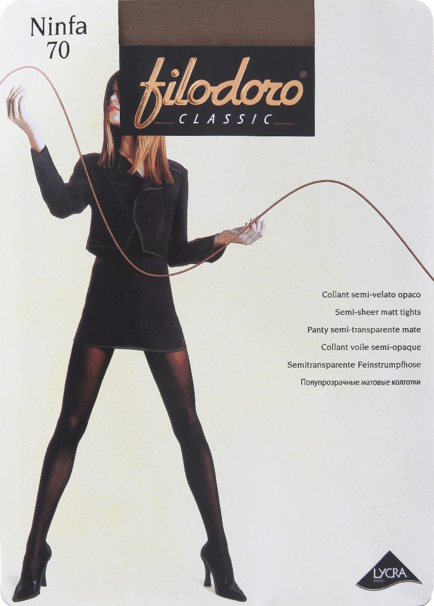 Колготки Filodoro Classic Ninfa 70, цвет: Cognac (коньяк). C115063FC. Размер 4 (46/48) filodoro classic filodoro classic regina 100 lana