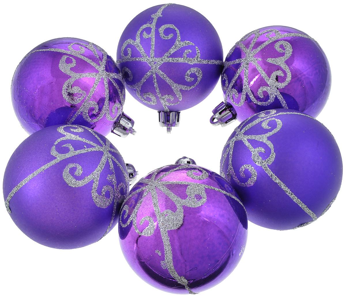 Набор новогодних подвесных украшений Феникс-Презент Шары, цвет: фиолетовый, диаметр 6 см, 6 шт35488_фиолетовыйНабор новогодних подвесных украшений Феникс-презент Шары прекрасно подойдетдля праздничного декора вашей ели. Набор состоит из 6 пластиковых украшений в виде матовыхи глянцевых шаров, декорированных блестками. Для удобногоразмещения на елке для каждого украшения предусмотрена текстильная петелька. Елочная игрушка - символ Нового года. Она несет в себе волшебство и красоту праздника.Создайте в своем доме атмосферу веселья и радости, украшая новогоднюю елку наряднымиигрушками, которые будут из года в год накапливать теплоту воспоминаний.Откройте для себя удивительный мир сказок и грез. Почувствуйте волшебные минутыожидания праздника, создайте новогоднее настроение вашим дорогим и близким.