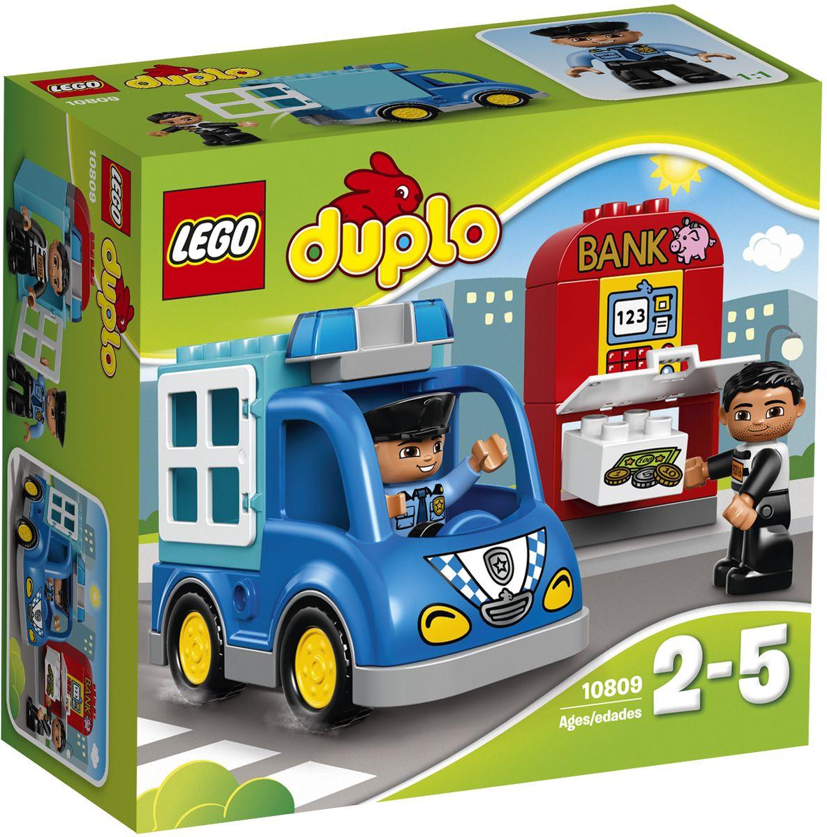 LEGO DUPLO Конструктор Полицейский патруль 10809 lego duplo конструктор гоночный автомобиль 10589