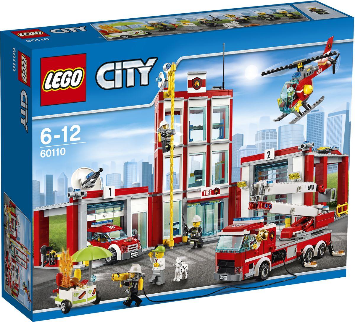 LEGO City Конструктор Пожарная часть 60110 lego friends 41129 конструктор парк развлечений фургон с хот догами
