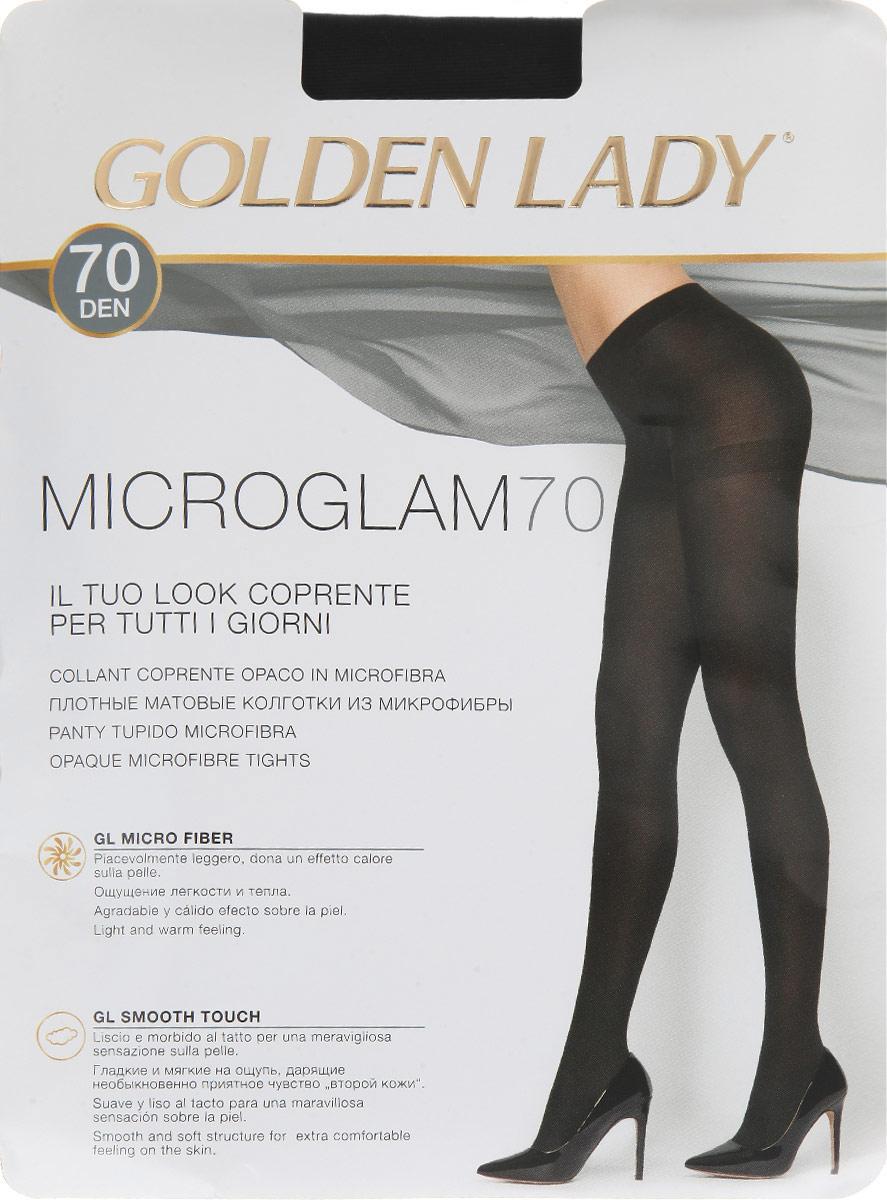 Колготки Golden Lady Microglam 70, цвет: Nero (черный). 24III. Размер 4 (46/48) golden lina колготки оптом