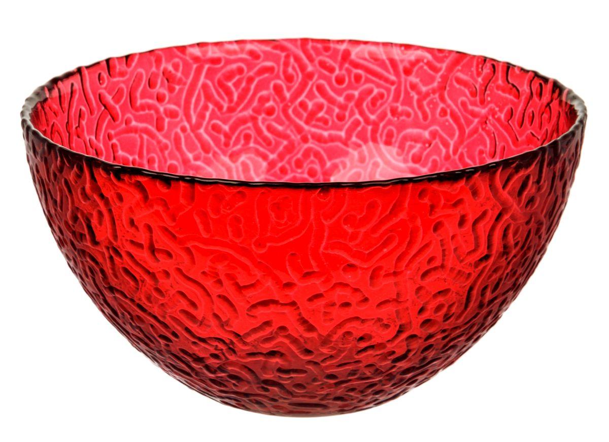 Салатник NiNaGlass Ажур, цвет: рубиновый, диаметр 25 смNG83-043RСалатник NiNaGlass Ажур выполнен из высококачественного стекла и декорирован рельефным узором. Идеален для сервировки салатов, овощей и фруктов, ягод, вторых блюд, гарниров и многого другого.