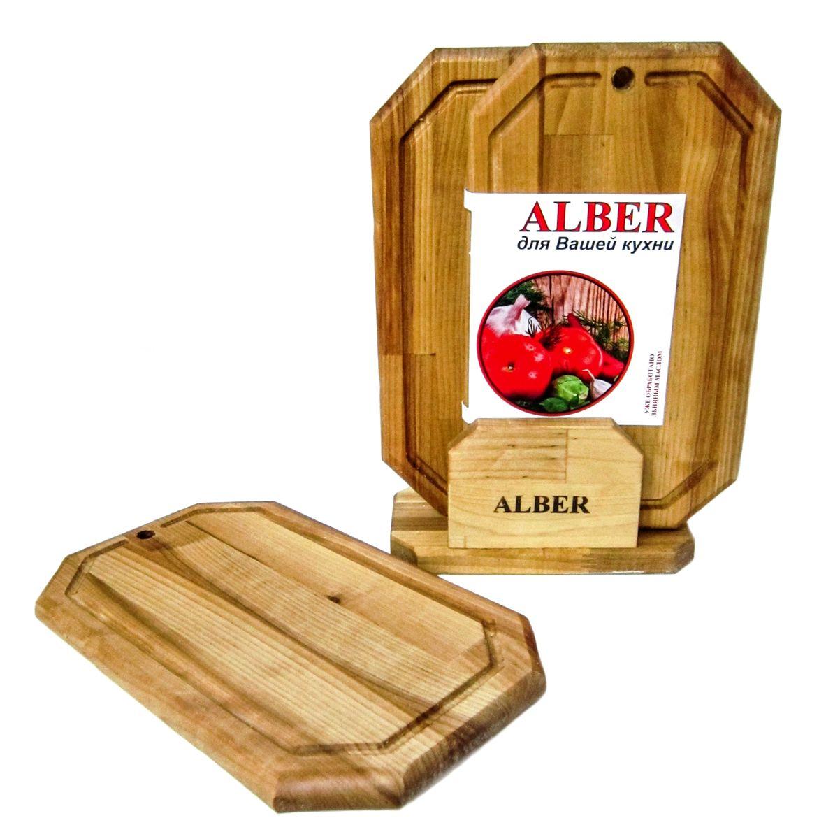 Набор досок разделочных Alber Гайка, 3 шт0080050Прочные, гладкие, с естественной березовой текстурой, доски обработаны льняным маслом для предохранения от рассыхания.Изделия имеют индивидуальную пленочную упаковку и оригинальную гравировку - нельзя мыть деревянную доску в посудомоечной машине, атакже оставлять надолго погруженной в воду. После каждого использования нужно промыть доску мыльной водой, тщательно сполоснутьпроточной водой и вытереть насухо.Заменять разделочную доску на кухне рекомендуется 1 раз в год. В наборе 3 разделочные доски. Размер каждой доски: 30 x 18 x 1,8 см.
