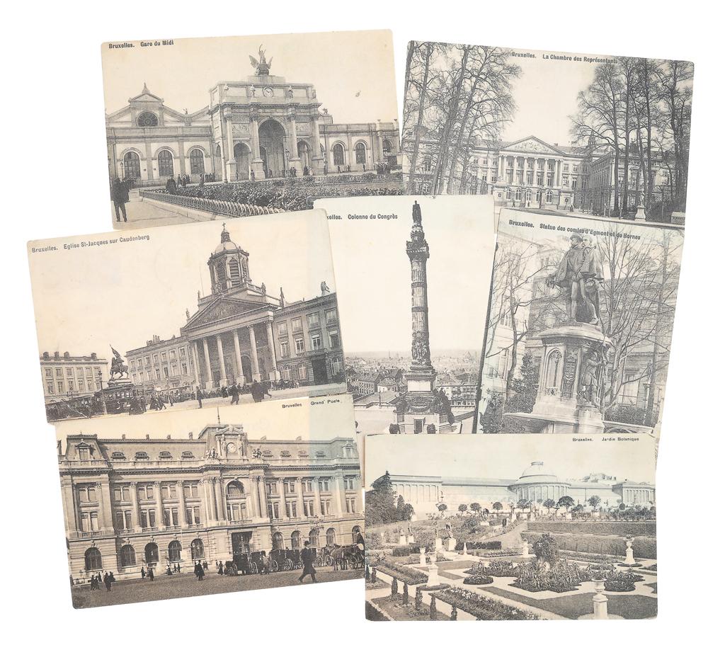 Брюссель. Комплект из 7 открыток