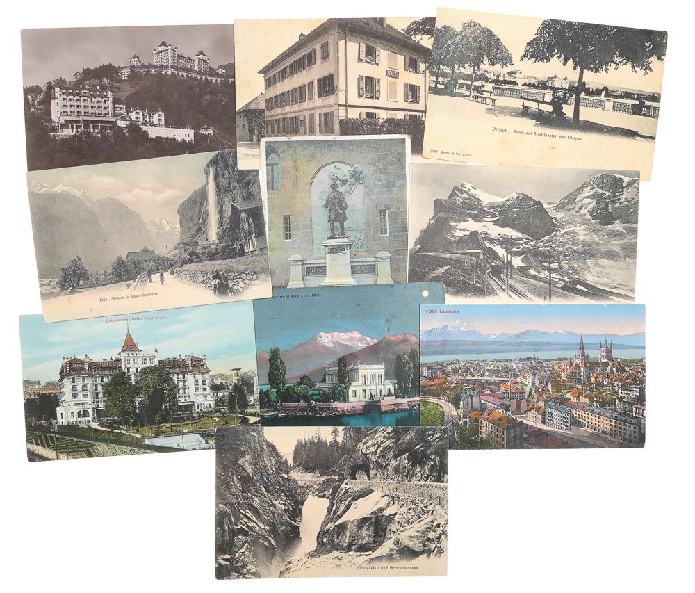 Швейцария. Комплект из 10 открыток