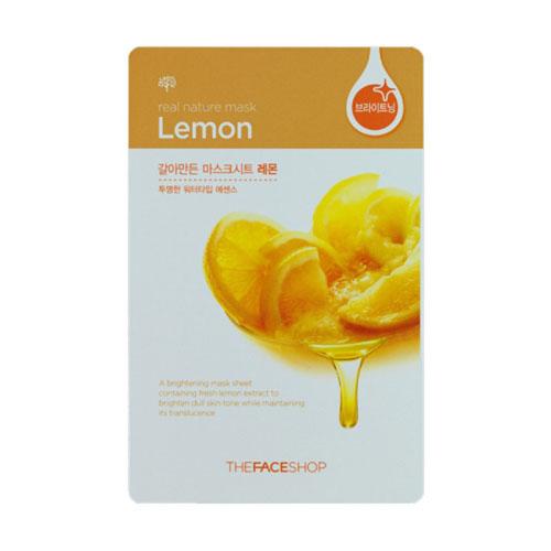 The Face Shop Тканевая маска для лица с экстрактом лимона REAL NATURE, 20 гУТ000001541Маска-салфетка для лица отбеливающая лимонная содержит 1000 мг чистого лимонного экстракта. Витамин С глубоко проникает в клетки кожи, осветляя и сохраняя ее прозрачность. Рекомендуется для тусклой кожи.