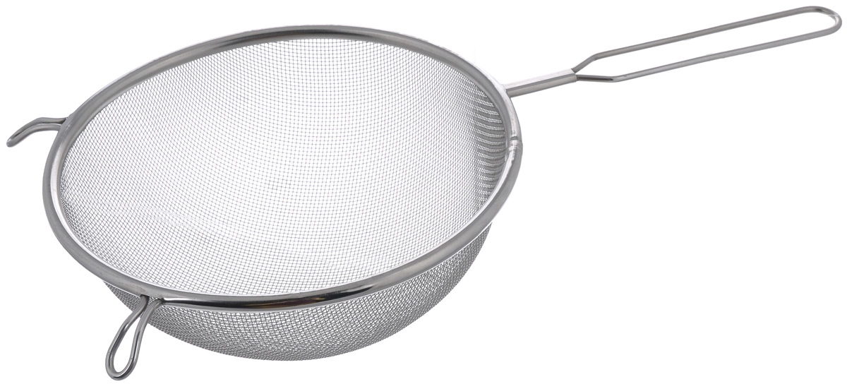 Сито Sam Mei, с ручкой, диаметр 18 смSM102-20Сито Sam Mei, выполненное из высококачественной нержавеющей стали, станет незаменимым аксессуаром на вашей кухне. Изделие идеально подходит для мытья и обсушивания салатов, зелени, овощей, фруктов и многого другого.Прочная стальная сетка и корпус обеспечивают изделию износостойкость и долговечность. Сито имеет эргономичную ручку и снабжено небольшим отверстием, благодаря которому изделие можно подвесить в удобном месте.Такое сито станет достойным дополнением к кухонному инвентарю.Диаметр рабочей поверхности: 18 см.Длина (с учетом ручки): 34 см. Высота стенок: 8 см.