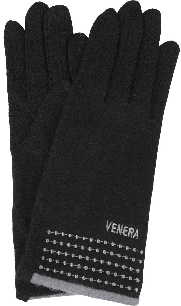Перчатки женские Venera, цвет: черный. 9504615-02. Размер универсальный