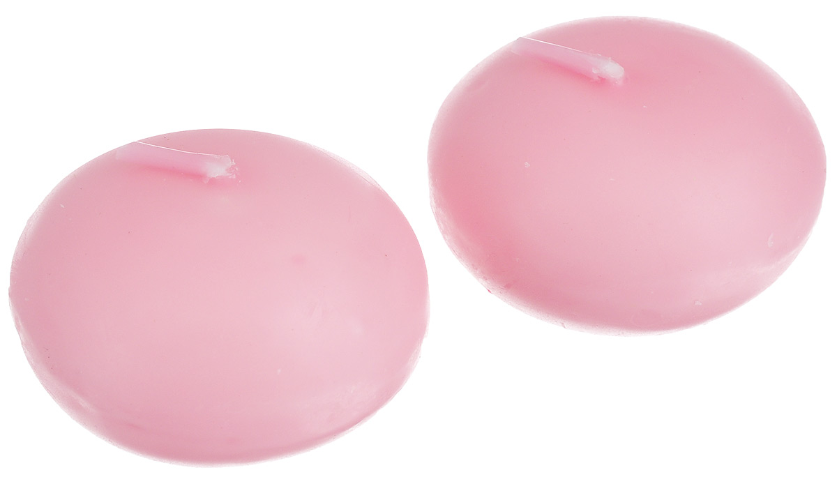 Набор декоративных свечей Lunten Ranta Маленький очаг, цвет: розовый, диаметр 4,5 см, 2 шт