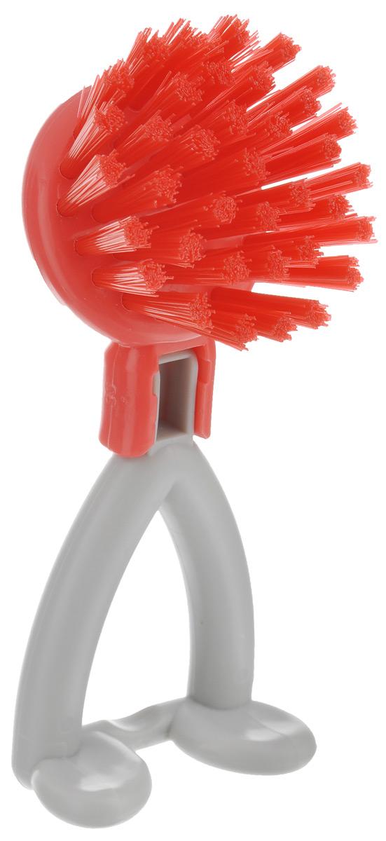 Щетка Идея Хозяюшка, цвет: красный, серый, диаметр 6 смHOZ-01_красныйЩетка Идея Хозяюшка изготовлена из высококачественного пластика и предназначена для чистки грязных поверхностей. Она имеет жесткую щетину, что позволит вам справиться с самыми стойкими загрязнениями. Благодаря оптимальному размеру и эргономичной ручке, щетка Идея Хозяюшка станет незаменимым инструментом на вашей кухне. Для наилучшего эффекта щетку необходимо использовать вместе с чистящими средствами, рекомендованными для поверхностей, которые вы обрабатываете.Использование этого приспособления позволит вас сэкономить время и силы. Длина щетины: 2,5 см.Общий размер щетки: 14,5 см х 6 см х 6 см.