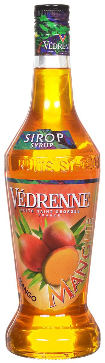 Vedrenne Манго сироп, 0,7 лSVDRMA-070B01Манго является, пожалуй, одним из самых популярных тропических фруктов, поэтому многие современные марки выпускают в продажу оригинальные манговые сиропы.Сироп Манго обладает довольно густой консистенцией и восхитительным сладким вкусом с нотами мякоти манго.Наиболее удачными сочетаниями, по словам профессиональных барменов, являются дуэты сиропа Манго с грейпфрутовым или ананасовым соком, а также с ромом, водкой и биттером.Сиропы изготавливаются на основе натурального растительного сырья, фруктовых и ягодных соков прямого отжима, цитрусовых настоев, а также с использованием очищенной воды без вредных примесей, что позволяет выдержать все ценные и полезные свойства натуральных фруктово-ягодных плодов и трав. В состав сиропов входит только натуральный сахар, произведенный по традиционной технологии из сахарозы. Благодаря высокому содержанию концентрированного фруктового сока, сиропы Vedrenne обладают изысканным ароматом и натуральным вкусом, являются эффективным подсластителем при незначительной калорийности. Они оптимизируют уровень влажности и процесс кристаллизации десертов, хорошо смешиваются с другими ингредиентами и способствуют улучшению вкусовых качеств напитков и десертов.Сиропы Vedrenne разливаются в стеклянные бутылки с яркими этикетками, на которых изображен фрукт, ягода или другой ингредиент, определяющий вкусовые оттенки того или иного продукта Vedrenne. Емкости с сиропами Vedrenne герметичны, поэтому не позволяют содержимому контактировать с микроорганизмами и другими губительными внешними воздействиями. Кроме того, стеклянные бутылки выглядят оригинально и стильно.В настоящее время компания Vedrenne считается одним из лучших производителей высококлассных сиропов, отличающихся натуральным вкусом, а также насыщенным ароматом и глубоким цветом. Фруктовые сиропы Vedrenne пользуются большой популярностью не только во Франции (где их широко используют как в сегменте HoReCa, так и в домашних условиях), но и экспортирую