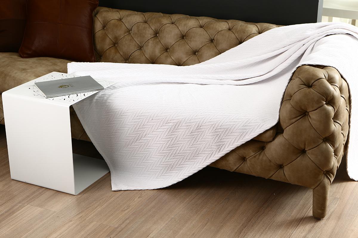 boxpop лайтбокс для гостиной или спальни неополь 45x45 160 Покрывало Arloni Энджел уайт, цвет: белый, 130 см х 160 см