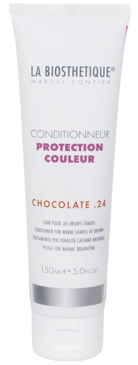 LaBiosthetique Кондиционер для окрашенных волос Protection Couleur. Chocolate 24, 150 млLB120560Кондиционер La Biosthetique Protection Couleur. Chocolate 24 интенсивно увлажняет волосы, улучшает структуру, укрепляет, наделяет их великолепным блеском, а также защищает от выцветания оттенка, возникающего вследствие воздействия УФ-лучей. Тонирующие пигменты улучшают цвет, усиливают его теплое сияние и создают искрящиеся золотые акценты. Товар сертифицирован.
