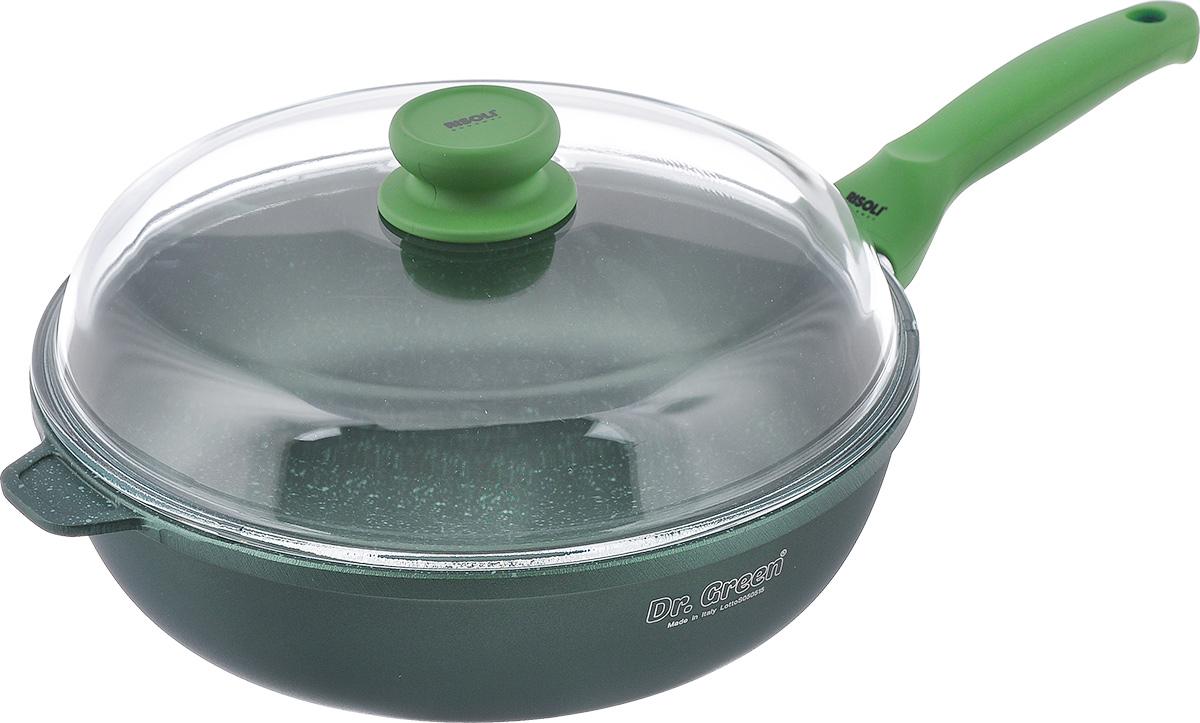 Сковорода Risoli Dr. Green с крышкой, с антипригарным покрытием. Диаметр 28 см00105DR/28GSСковорода Risoli Dr. Green изготовлена из литого алюминия с антипригарным гранитнымпокрытием. Предназначено дляприготовления здоровой и диетической пищи без добавлениямасла. Покрытие обладает повышенной износостойкостью,идеально подходит для интенсивного ежедневногоиспользования, особенно хороша для тушения. Изделиеоснащено удобной бакелитовой ручкой с покрытием Soft- touch и крышкой из жаропрочного стекла.Подходит для газовых и электрических плит. Не подходит для индукционных плит. Диаметр (по верхнему краю): 28 см.Высота стенки: 8 см.Толщина стенки: 7 мм.Толщина дна: 7 мм.Длина ручки: 20 см.