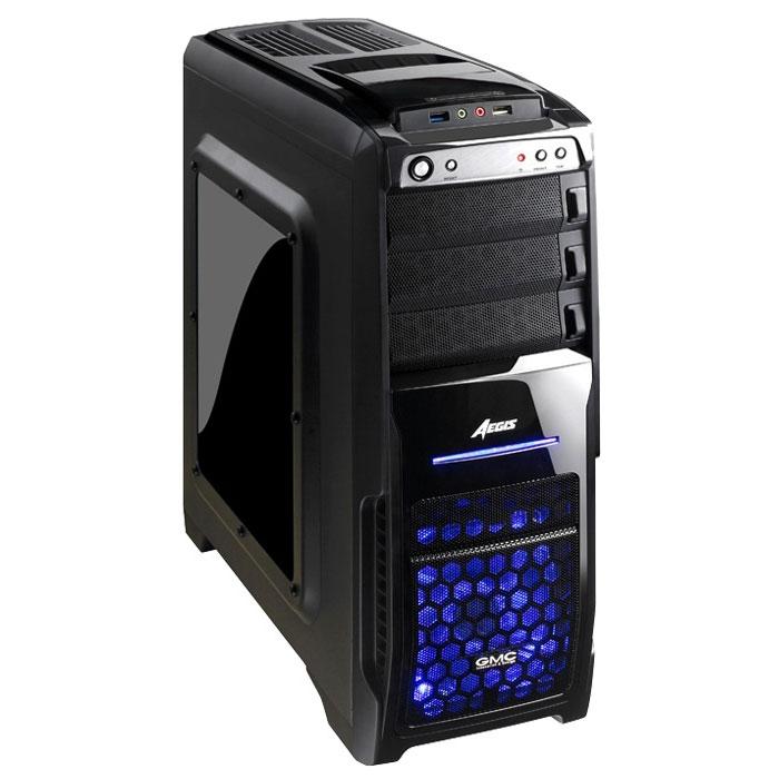 GMC Aegis Pro, Black компьютерный корпус00000077453Стильный корпус GMC Aegis Pro для высокопроизводительных систем. В нем установлены два кулера сверху и спереди. При выключении кулера LED подсветка гаснет. Два 120-мм кулера (спереди и сзади) обеспечивают постоянный приток холодного воздуха к системе и отвод горячего воздуха из неё.Стильная боковая панель из акрила GMC Aegis Pro выгодно выделяет его в ряду обычных корпусов. На корпусе сверху расположен отсек для установки жестких дисков.