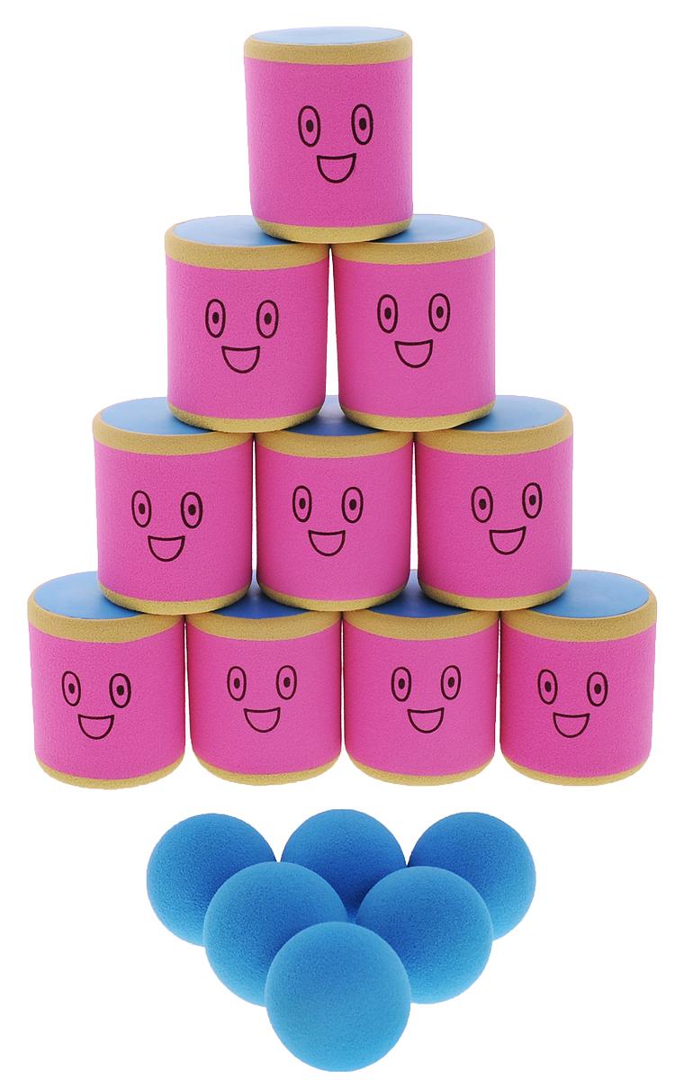 Safsof Игровой набор Городки цвет розовый голубой бежевый