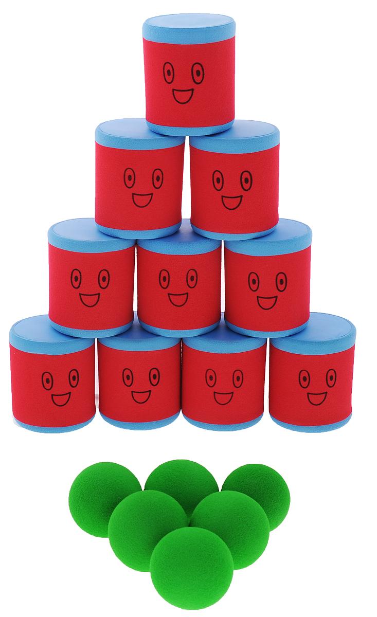 Safsof Игровой набор Городки цвет красный синий зеленый
